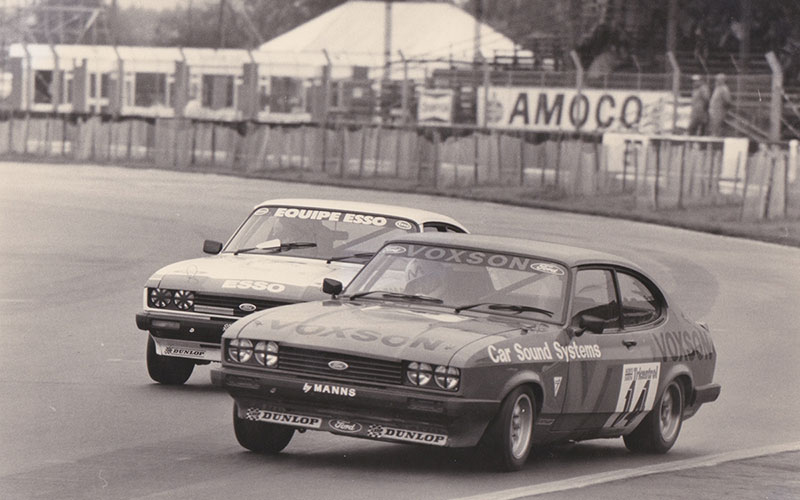 Competing in the 1978 BTCC in the Voxson Capri